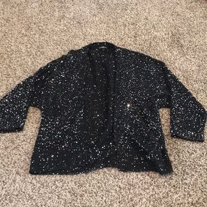 Express Open Cardigans with Sequins